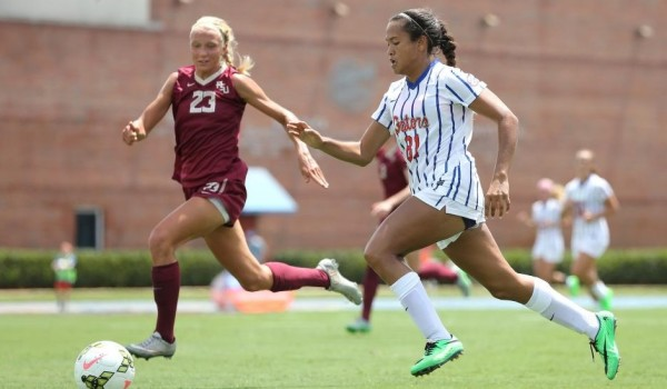 fsu florida state university seminoles womens soccer falls to uf university of florida 2015