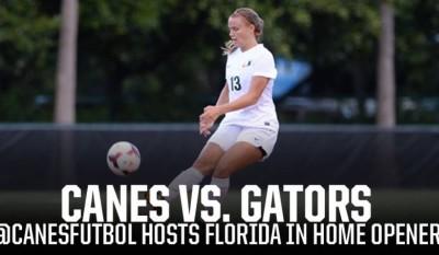 um university of miami womens soccer faces uf Florida in season opener