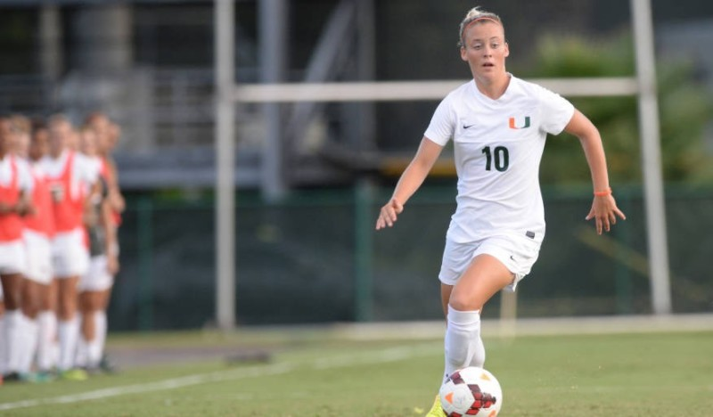 The University of Miami soccer team began its regular season Sunday afternoon against Texas in the Nike Charleston Classic and dropped a 1-0 heartbreaker