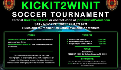 kickit2winit soccer tournament at soccer pitch miami lakes hialeah